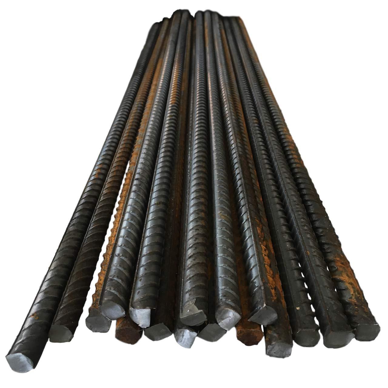 8 mm 2 longitudes 10 mm y 12 mm de di/ámetro Barra de refuerzo de acero para refuerzo de hormig/ón barra de metal acanalada de alta resistencia