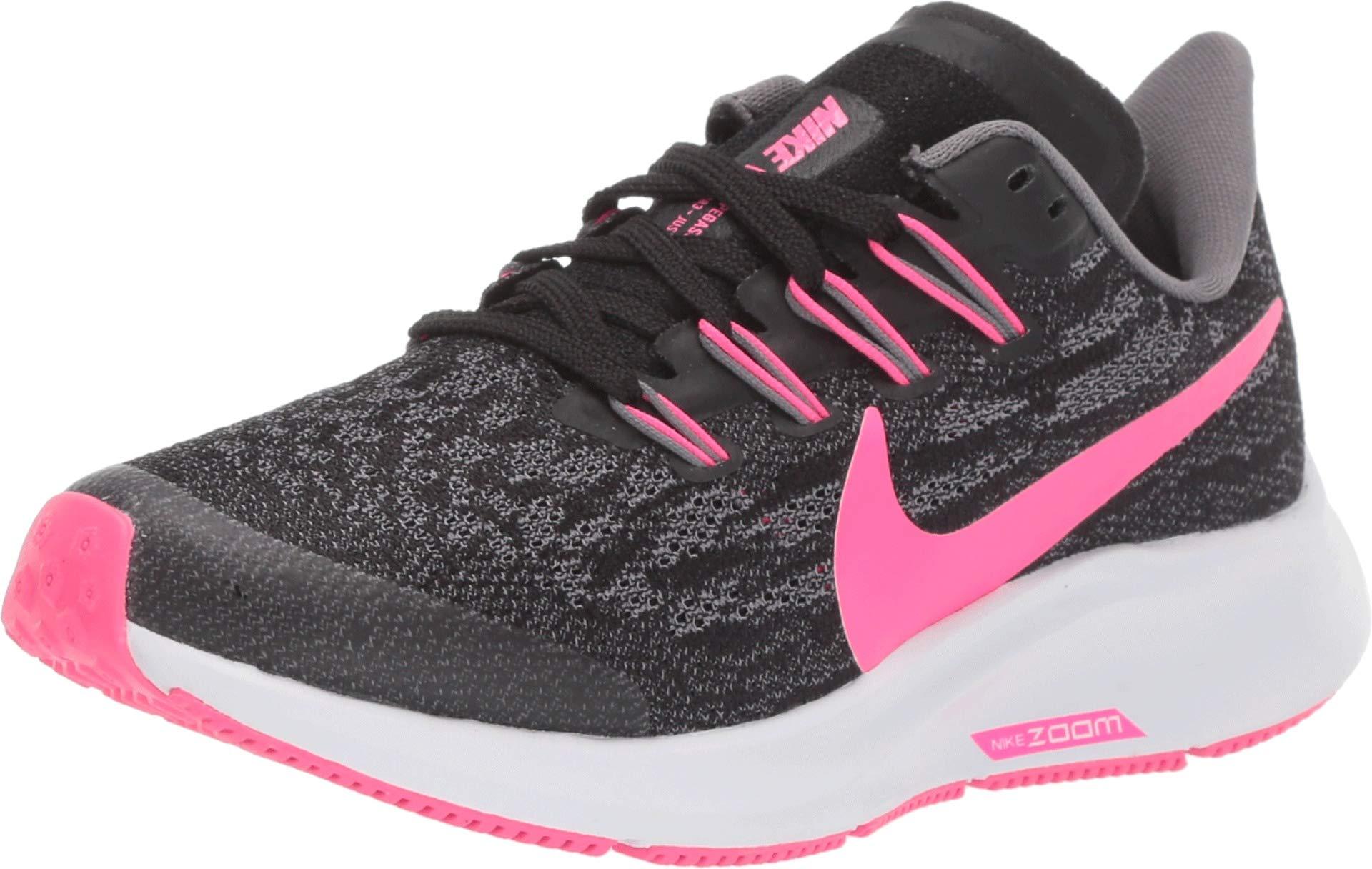 Nike Boy's Air Zoom Pegasus 36 Running Shoe Black/Hyper Pink/Gunsmoke/White Size 3.5 M US by Nike