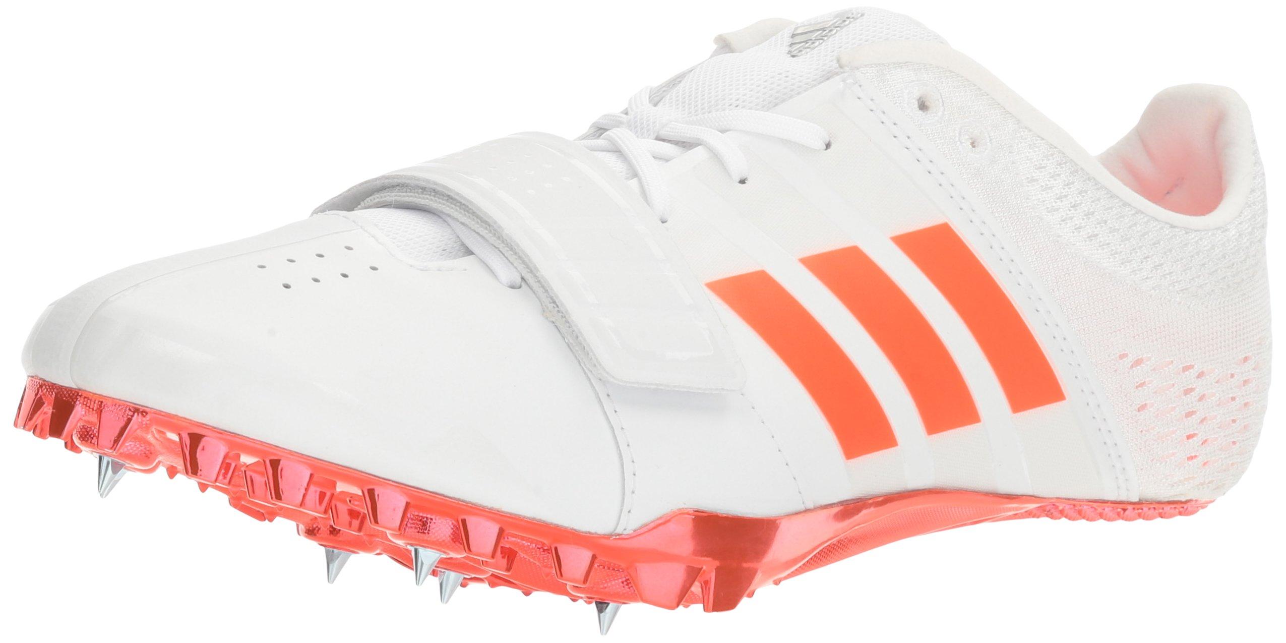 adidas Adizero Accelerator Track Shoe, White/Infrared/Metallic/Silver, 12 M US