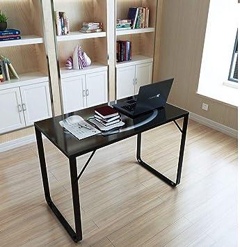 Generic E Bureau Pc Table Glace De Metal Ordinateur Home
