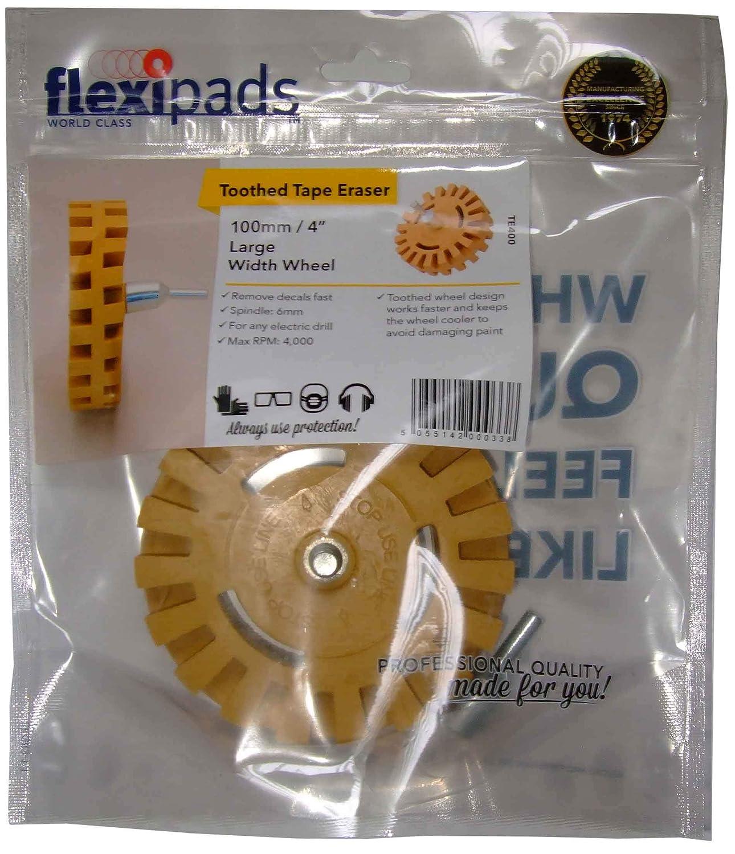 Flexipads Fluted Rubber Pin Stripe Decal Eraser Caramel Wheel