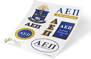 Alpha Epsilon Pi Standard Sticker Sheet Decal Laptop Water Bottle Car aepi (Full Sheet - Standard)