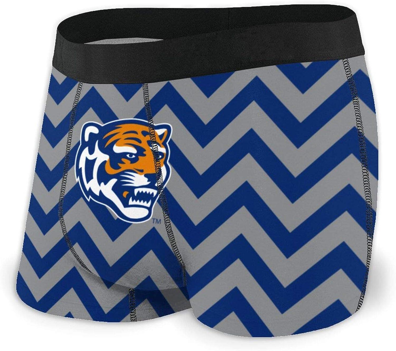 Fashion University of Memphis Teen Mens Underwear Soft Breathable Boxer Briefs No Ride-Up Sport Under-Wear