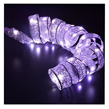 led ribbon string lights fairy lights home decoration for christmas tree wedding holiday parties white