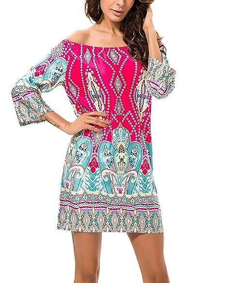 Fuweiencore Vestido De Playa Con Estampado De Flores Y