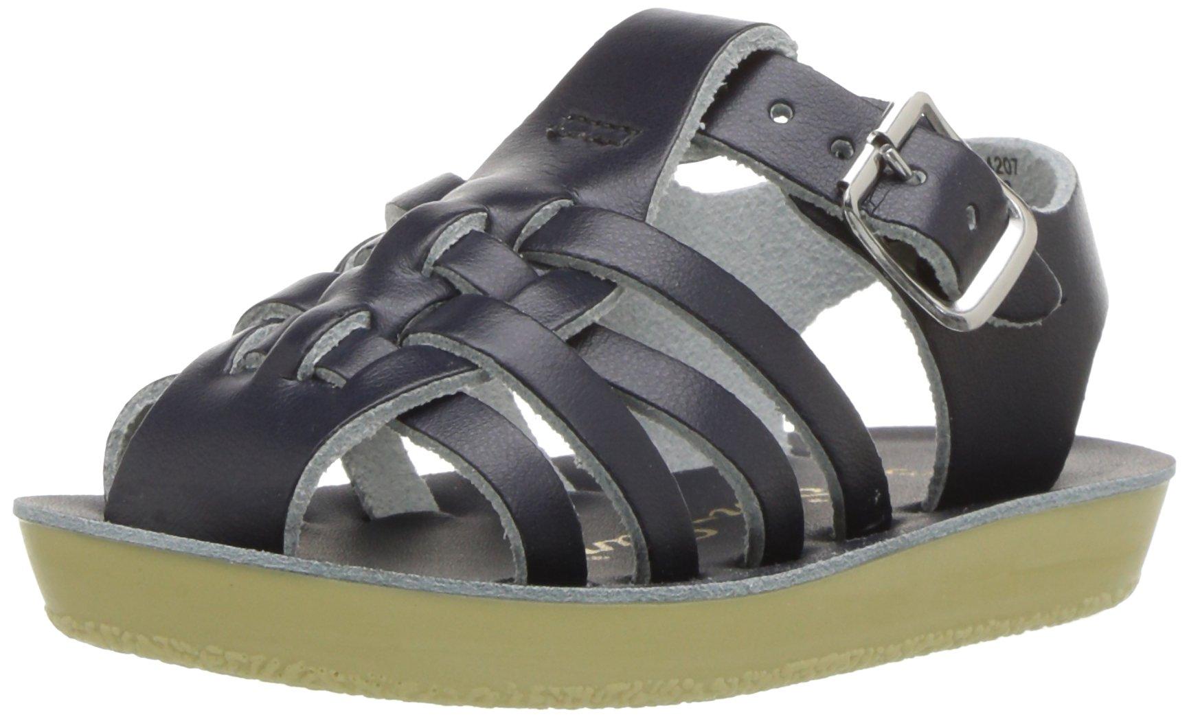 Salt Water Sandals by HOY Shoe Baby Sun-San Sailor Flat Sandal Navy 6 M US Toddler by Salt Water Sandals