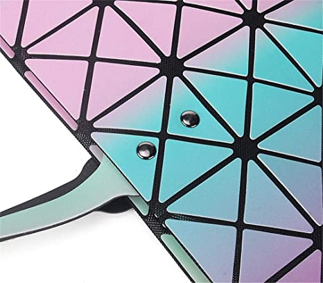 Moda Arco Iris PU GeoméTrica Plegable Grande Casual Tote: Amazon.es: Equipaje