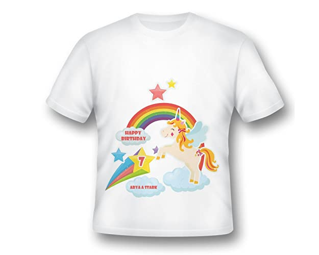 Amazon Unicorn Birthday Shirt Girl Tshirt Tshirtunicorn Birthdayunicorn Party Custom Handmade
