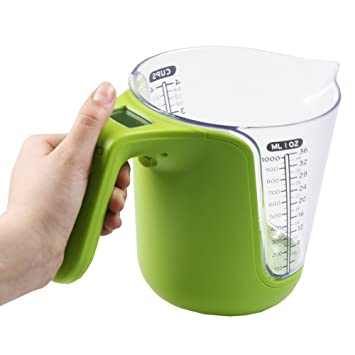 kitchpro digital measuring cup and kitchen scale 1 liter cups