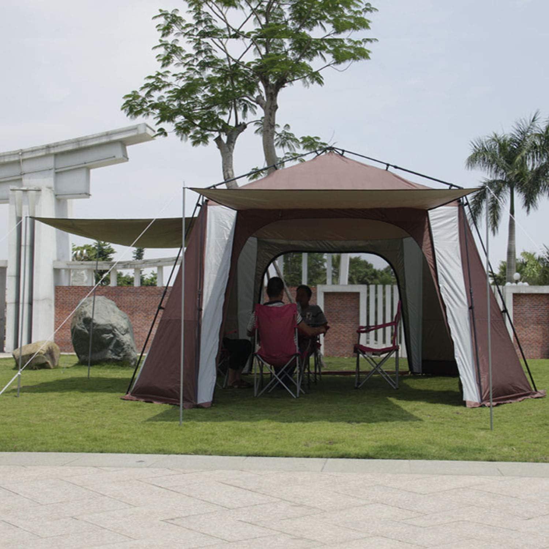 YXXHM- Al Aire Libre 8-12 Personas Pabellón automático Pérgola portátil Pabellón del pabellón Toldo Pérgola al Aire Libre: Amazon.es: Deportes y aire libre