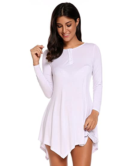 973ec6d0 Zeagoo Women Casual Loose 3/4 Sleeve Tunic Tops Basic Swing Flare Hem Shirt
