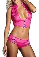 Polliwoo Biancheria di Cuoio Uniformi Cosplay Clubwear Vestito da Ballo Gonna Body Abito Sexy Lingerie