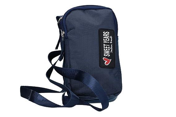 Sweet Years Bandolera hombre azul bolsa bandolier VF410: Amazon.es ...