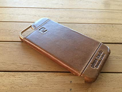 buy online 46cc8 ef4eb Pierre Cardin Leather Back Cover Case Shell Cover for Apple iPhone 5  5S-brown