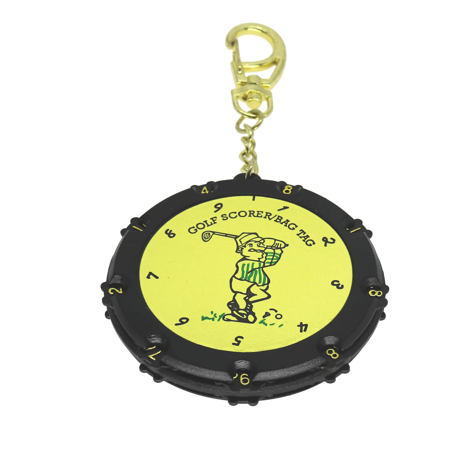 QHALEN Golf Score Counter 18 Holes Golf Score Stroke Shot Counter Keeper Round Scoring Tag with Clip Keychain