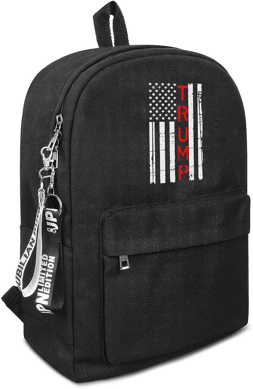 YONG-SHOP Trump School Backpack Vintage Casual Canvas Backpack Travel Hiking Rucksack for Men Women Daypack