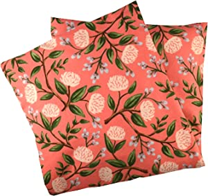 Microwave-Heating-Pad, Heated-Neck-WrapUnscented Weighted Stress-Relief-Gifts-for-Women Coral Peony
