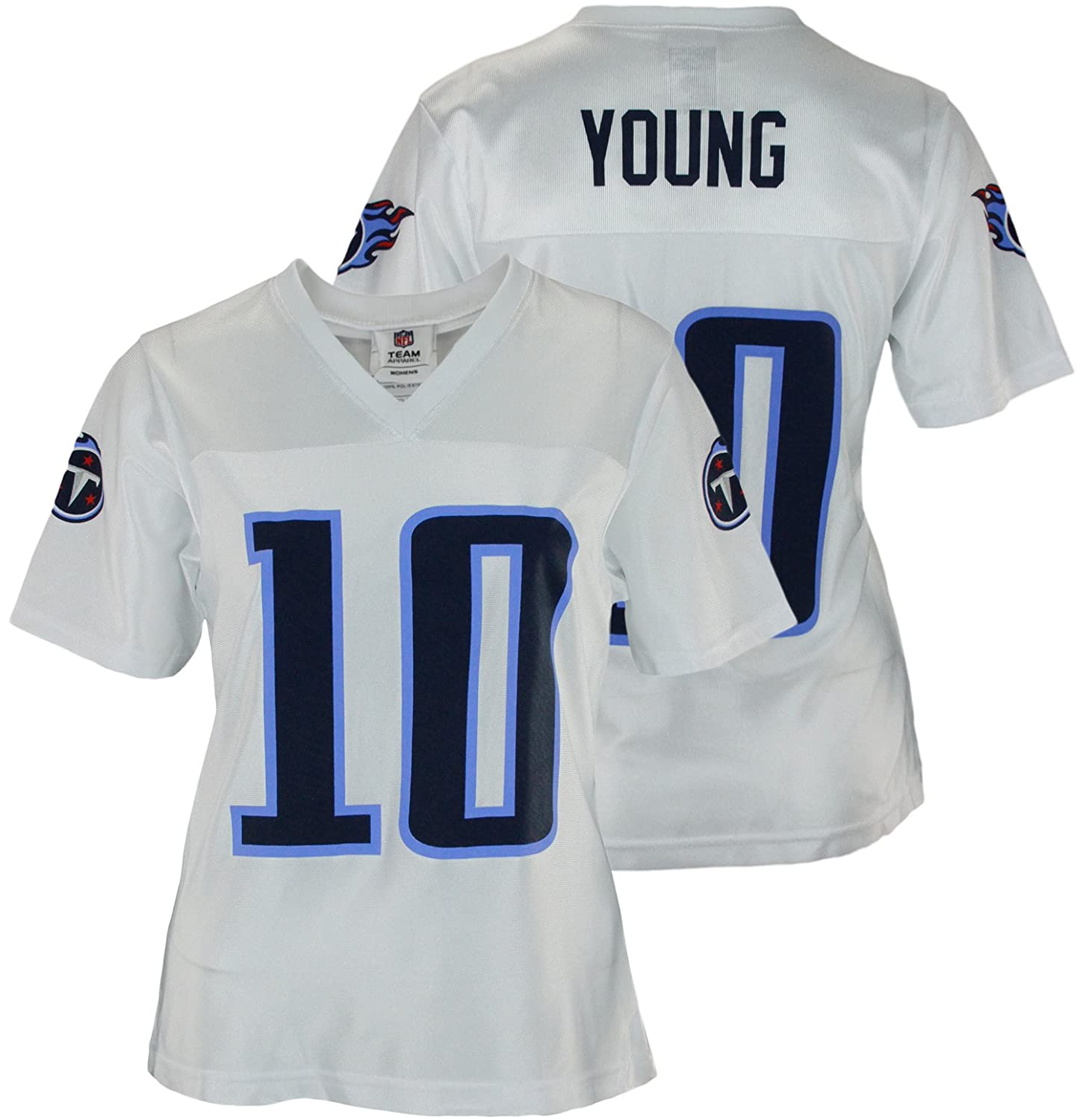2f3dbb564 Amazon.com   Assorted Womens Tennessee Titans Vince Young  10 Dazzle Jersey    Sports   Outdoors