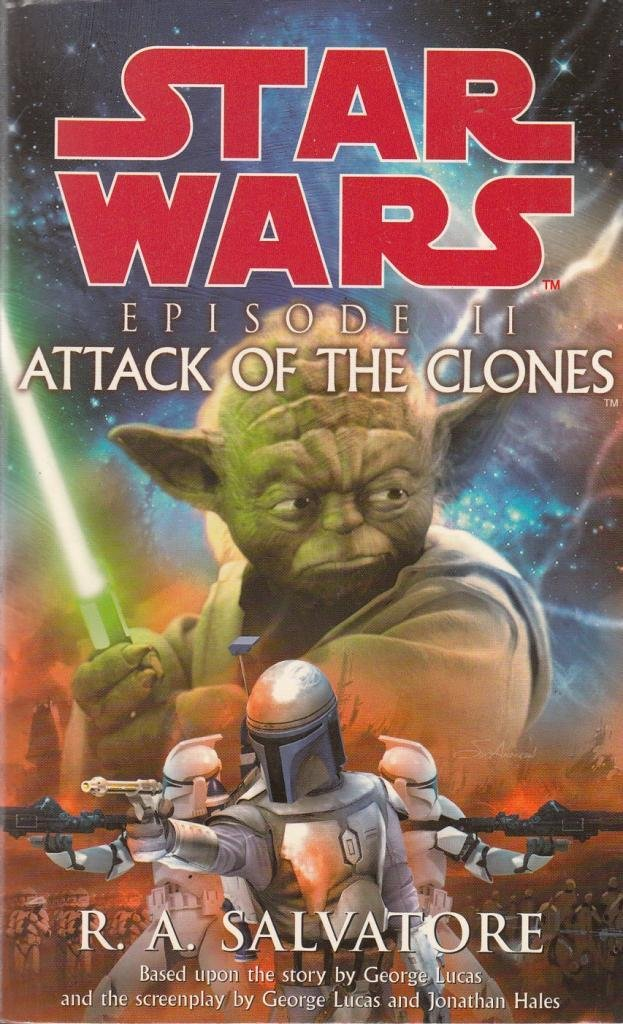 German Foreign Star Wars Episode II Attack of the Clones 4 Card Advertising Set