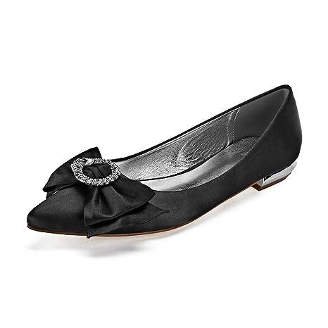 Zxstz Chaussures pour Femmes Satin Printemps Eté Mariage