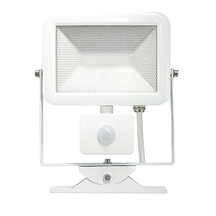 Electraline 63514, Proyector LED con Sensor de Movimiento, 30 W, Luz Natural 2400