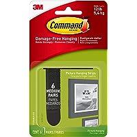 Command Plakstrips voor het ophangen van foto's, medium, transparant, 6 medium strips