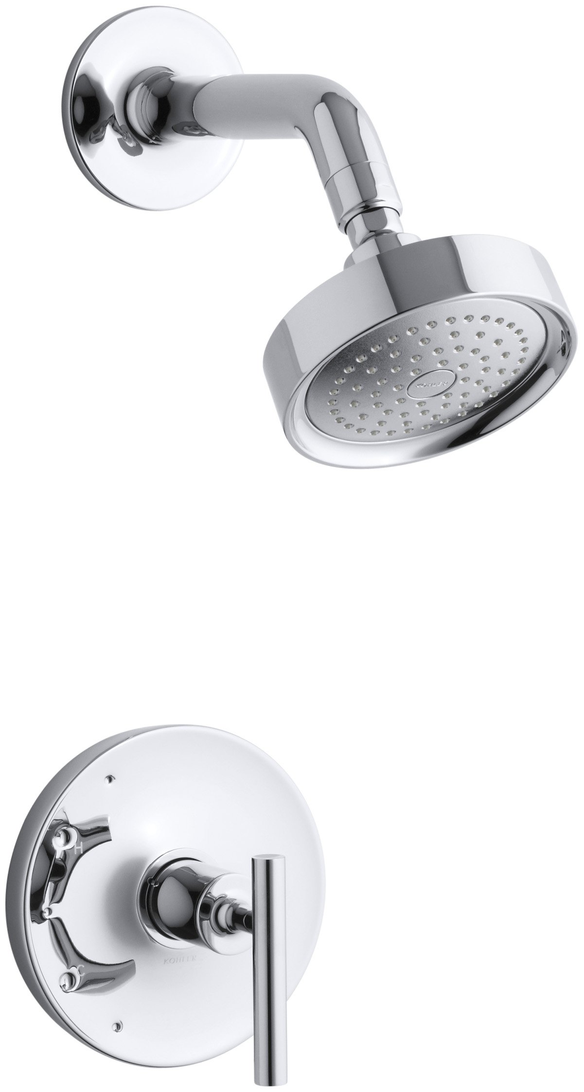 KOHLER K-T14422-4E-CP Purist Rite-Temp Pressure-Balancing Shower Trim Set, Valve Not Included, Polished Chrome