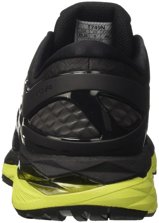Asics Kayano Gel De Los Zapatos Corrientes 24 De Los Hombres - Negro 7Y8sxgd