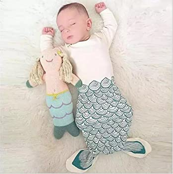 NinkyNonk Newborn Cotton Long Sleeves Mermaid Baby Sleep Bag