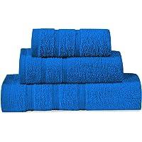 ADP Home - Juego de Toallas Tocador / Lavabo / Ducha (Azul, Juego de Toallas de Tocador / Lavabo / Ducha)