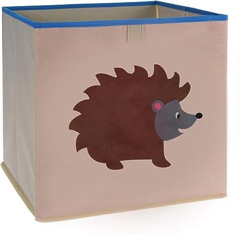 LS-LebenStil Kinder Aufbewahrungsbox Qualle Spielzeugkiste faltbar 32cm Kiste Schublade Spielzeug Aufbewahrungsw/ürfel