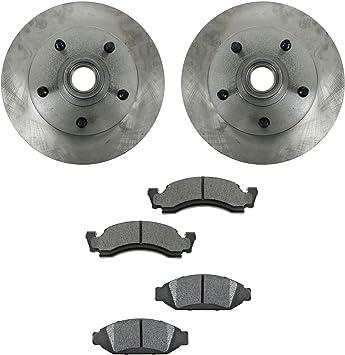 F-150 Front Black Drill Slot Brake Rotors+Ceramic Brake Pads For Ford Bronco