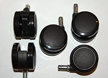 Herman Miller C7 2.5 Inch Hard Floor/Carpet Caster Set For Aeron Chair (Set