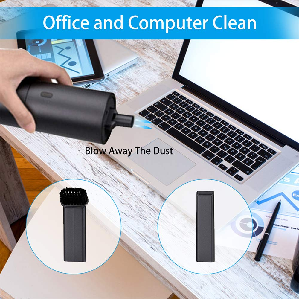 YOUHUG Car Vacuum Cleaner Cordless Rechargeable Portable Handheld Vacuum Cleaner for Home Office Cleaning Gray