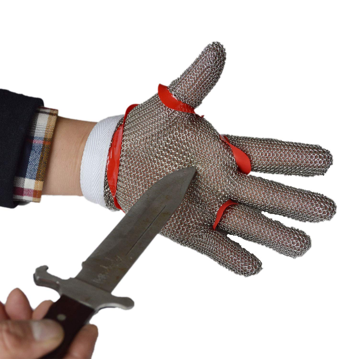 ZHANGZHIYUA Anself Cut Resistant Glove Stainless Steel Mesh Knife Cut Resistant Protective Glove