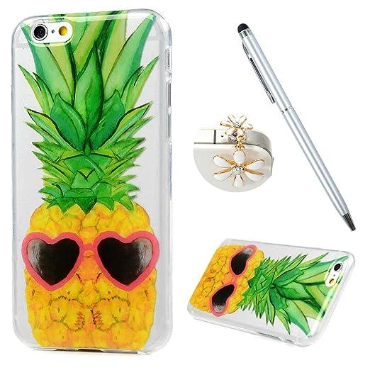 2 opinioni per iPhone 6 6s Custodia Silicone Trasparente Ultra Slim- MAXFE.CO Case Cover