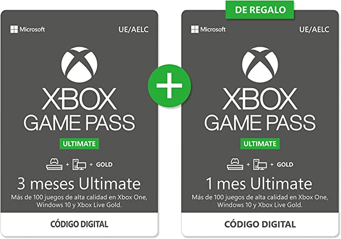 Suscripcion Xbox Game Pass 3 Meses Ultimate + 1 Mes Gratis | Xbox ...