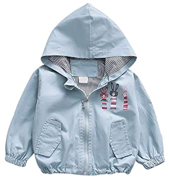 5a213dc0e00b Amazon.com  EGELEXY Baby Girls Cute Cartoon Rabbit Hooded Zipper ...