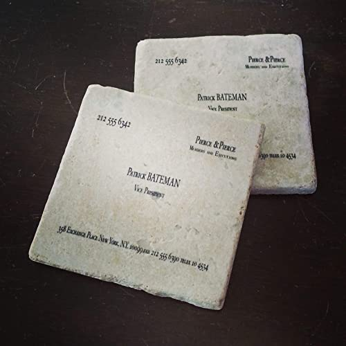 Amazon patrick bateman murders executions business card patrick bateman murders executions business card tumbled marble coaster single set of 2 or colourmoves