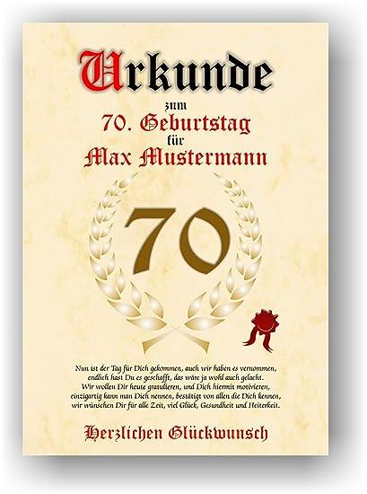 Documento para 70º cumpleaños - Tarjeta de felicitación de ...