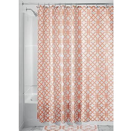 Amazon InterDesign Trellis Fabric Shower Curtain