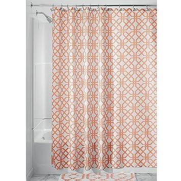 Idesign Trellis Textil Duschvorhang Duschabtrennung Für Badewanne Und Duschwanne Mit Spalier Motiv 183 Cm X 183 Cm Vorhang Aus Stoff Polyester