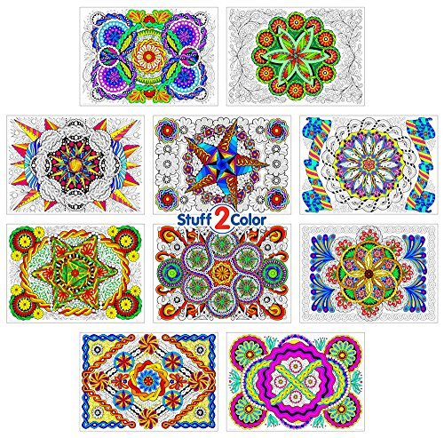(Stuff2Color Woven Wonders - Line Art Coloring Poster 10-Pack)