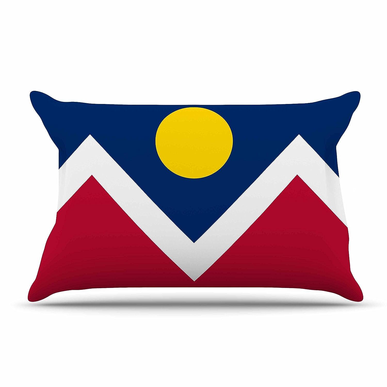 Kess InHouse Bruce Stanfield Denver Colorado City Flag Vector GeometricKing Featherweight Sham