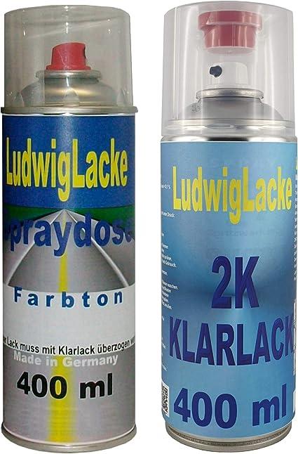 Ludwig Lacke Ly9b Brillantschwarz Für Audi Premium Spray Set Autolack 2k Klarlack Je 400ml Auto