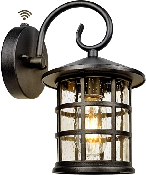Amazon Com Upgrade Dusk To Dawn Sensor Outdoor Wall Lantern Exterior Wall Mount Lights And Outdoor Sconce Porch Light Fixture With E26 Socket Anti Rust Waterproof Ideal For Garage Doorway Barn 10 3 X7 84 Home Improvement