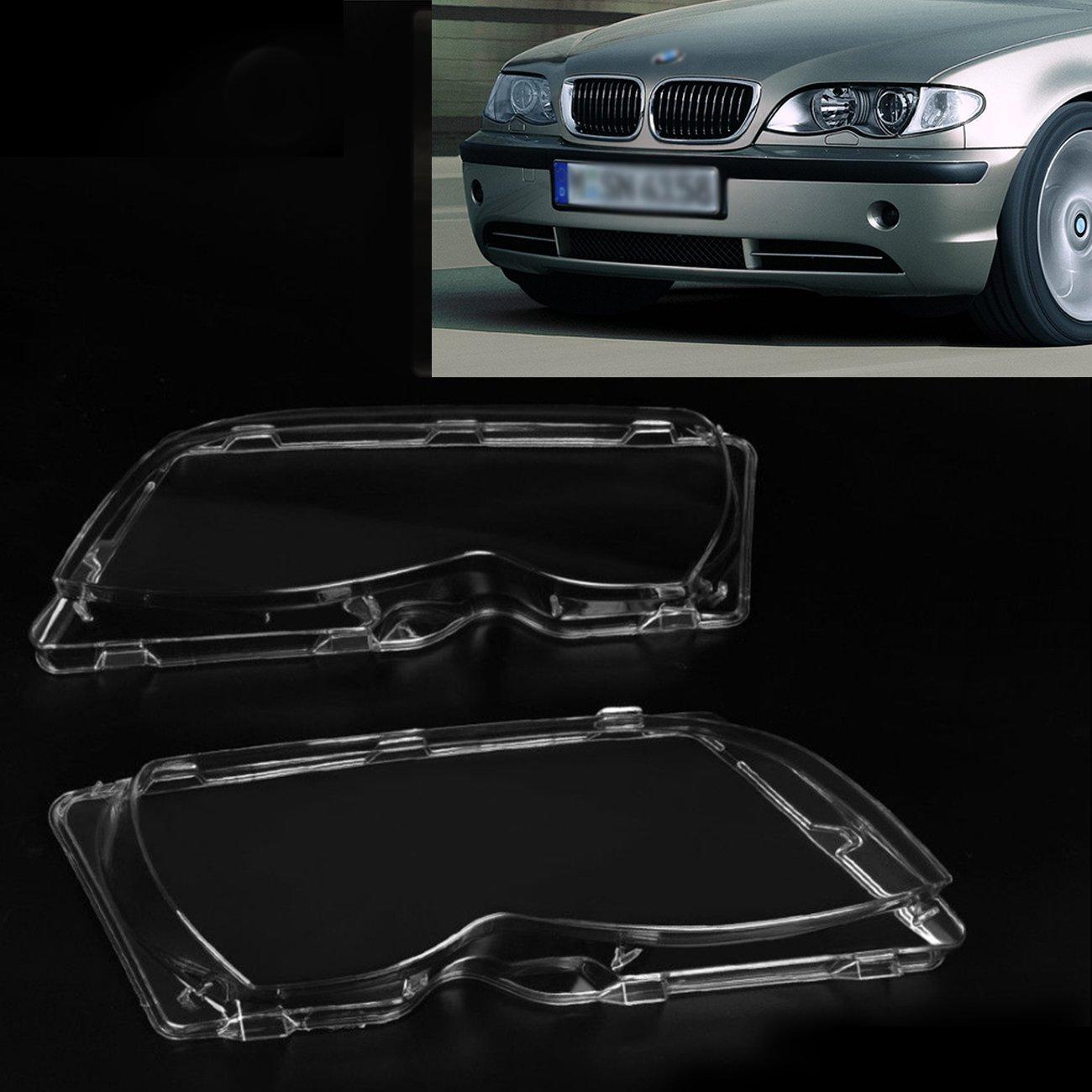 Headlight Lens Plastic Shell Cover For BMW E46 4-Door 63126924045 63126924046 2002 2003 2004 2005 Espear