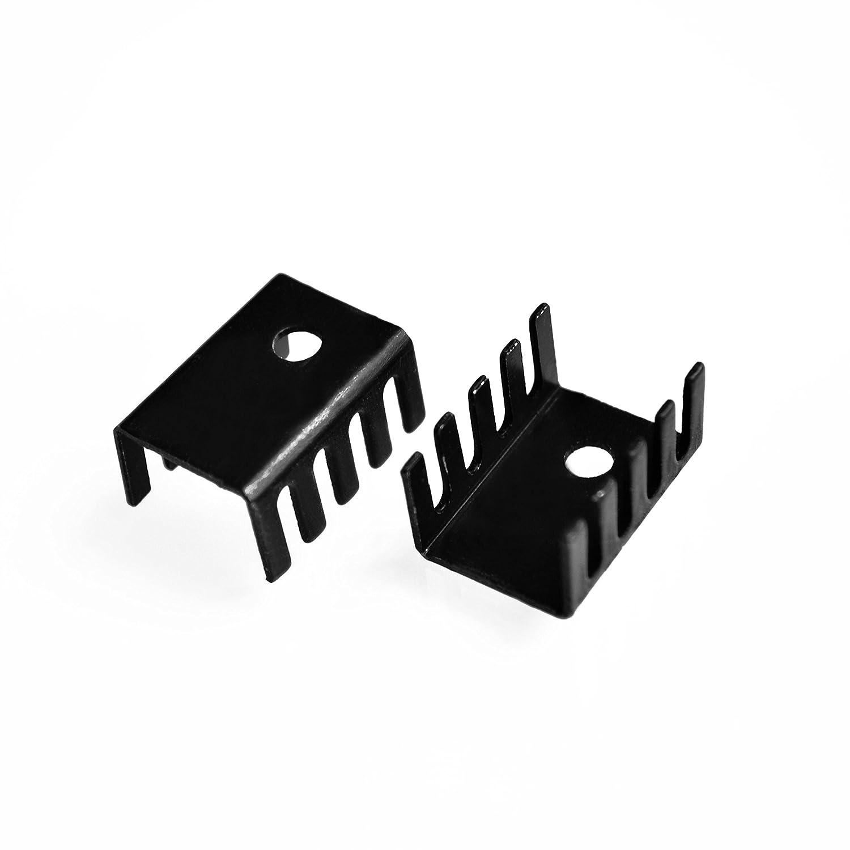 15 10MM Aluminum heatsink 781radiator 7805 Cooling Product purchas 10PCS//LOT HOT TO-220 19