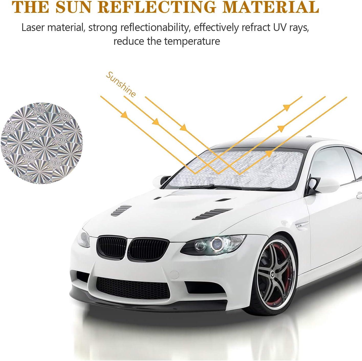Parasol para ventana de coche Wekon reflector de coche contra los rayos UV de la luz solar protecci/ón contra el sol pantalla solar l/áser retr/áctil para la parte delantera de la ventana trasera