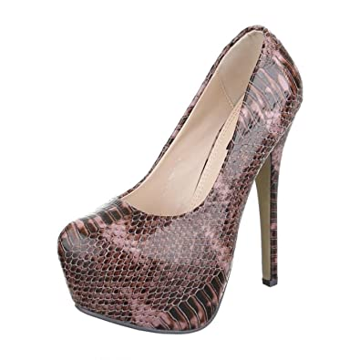 Cingant Woman Damen Pumps/Stilettoabsatz/High Heels/Damenschuhe/Elegante Schuhe/Plateausohle/Beige, EU 36
